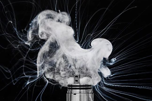 E-liquid in my vape is spitting and popping.