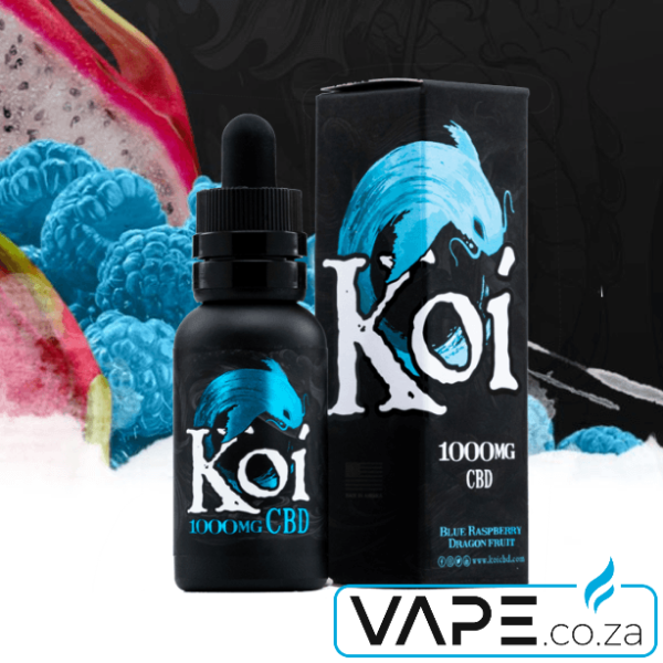 Koi Blue Raspberry Dragon Fruit CBD Vape-e-Liquid